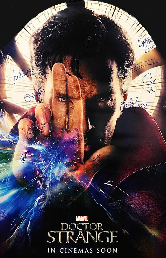 """Doctor Strange"" - Cast signed Movie Poster Option 1 (Unframed)"