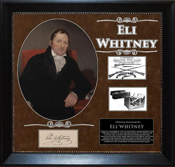 Eli Whitney Original Signature