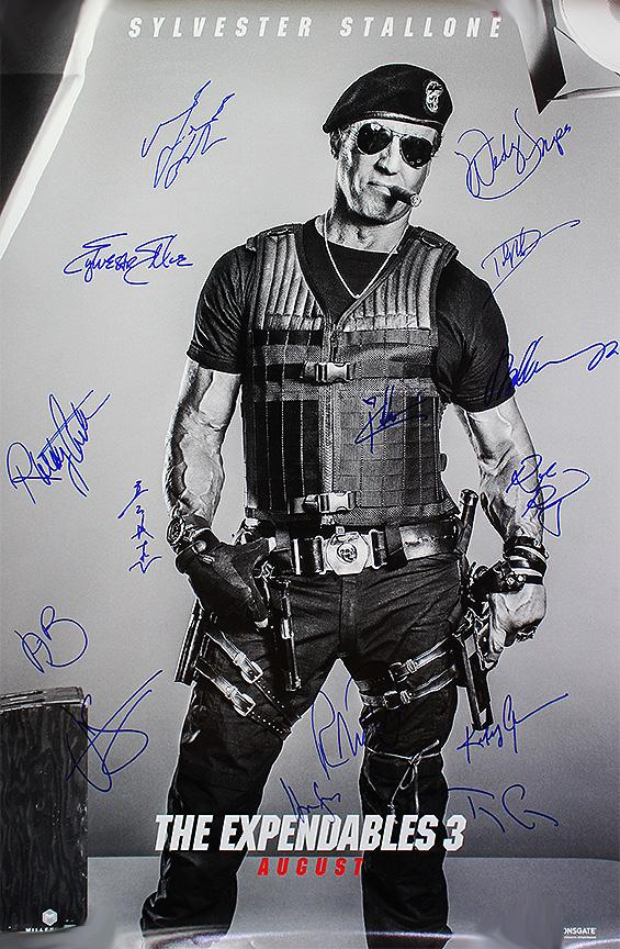 """Expendables 3"" - Cast signed Movie Poster (Unframed)"