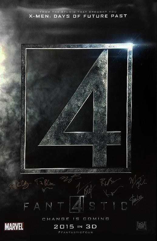 """Fantastic 4"" - Cast signed Movie Poster Option 2 (Unframed)"