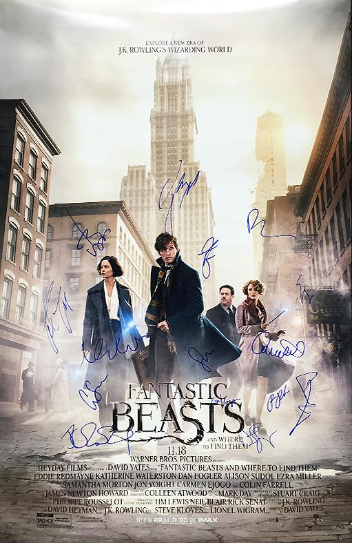 """Fantastic Beasts"" - Cast signed Movie Poster (Unframed)"