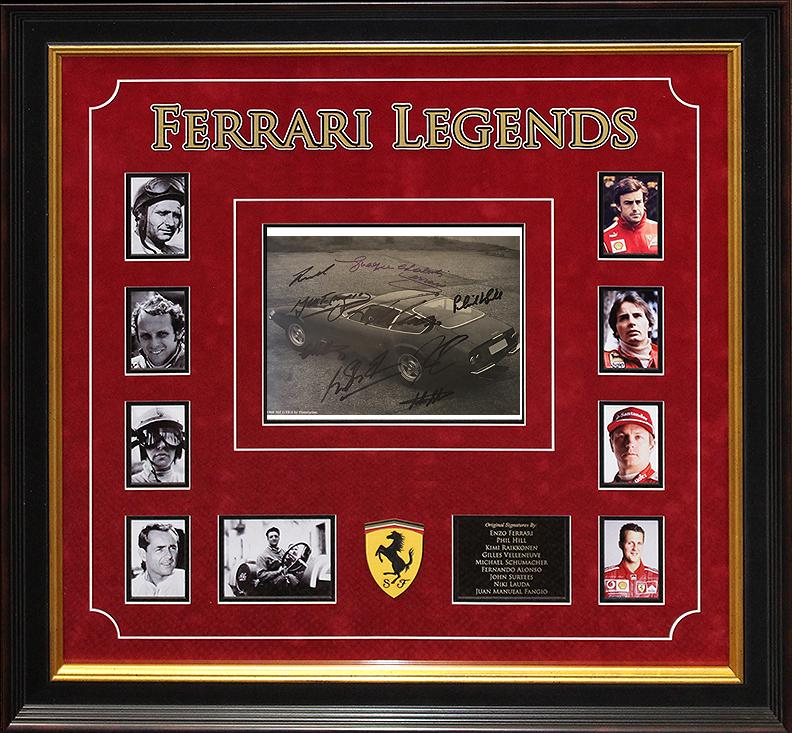 """Ferrari Legends"" - Signed Photo"