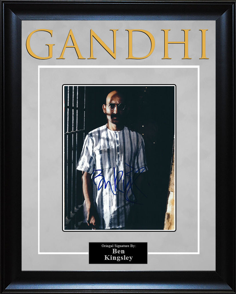"""Gandhi"" - Ben Kingsley Signed 8x10 Photo"