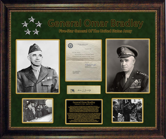General Omar Bradley Letter with Original Signature