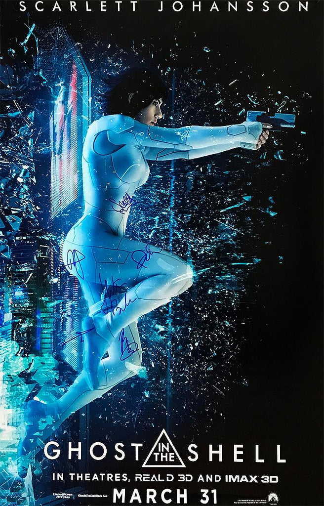 """Ghost in the Shell"" - Cast signed Movie Poster (Unframed)"