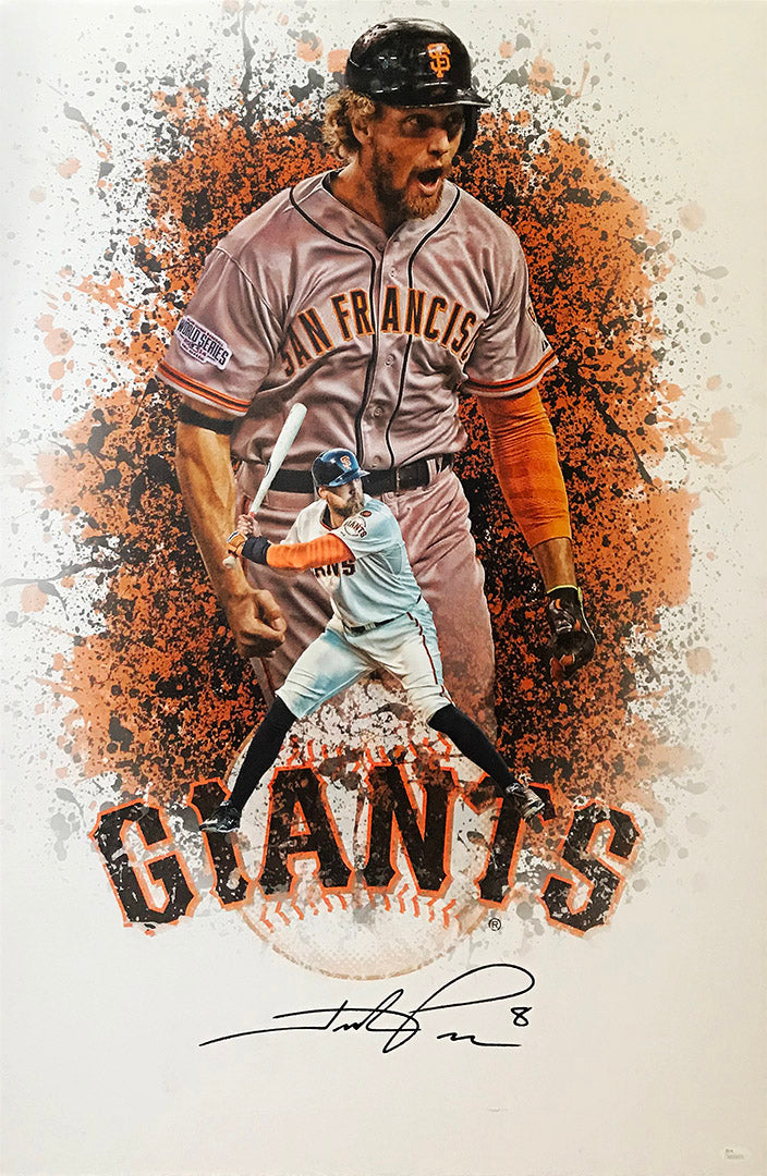 """SF Giants"" Hunter Pence signed canvas (unframed)"