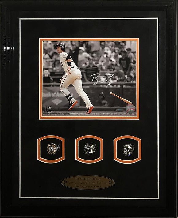 """San Francisco Giants"" Buster Posey signed 8x10 w/Rings!"