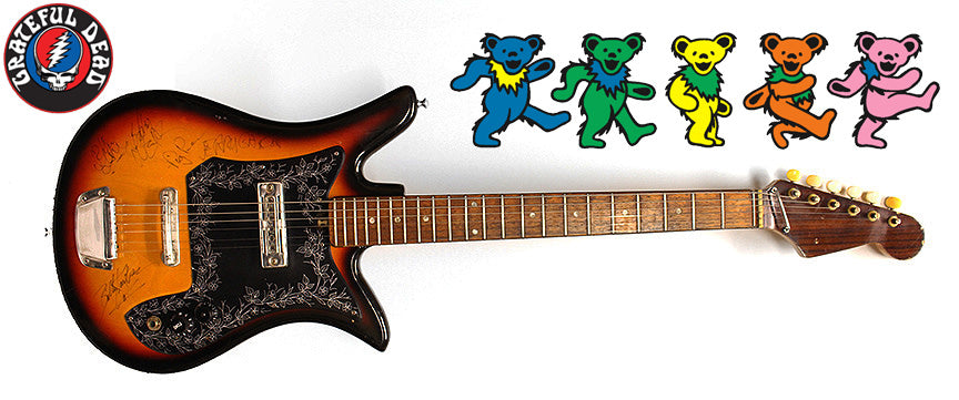 """Grateful Dead"" The""ORIGINAL Band signed Guitar"