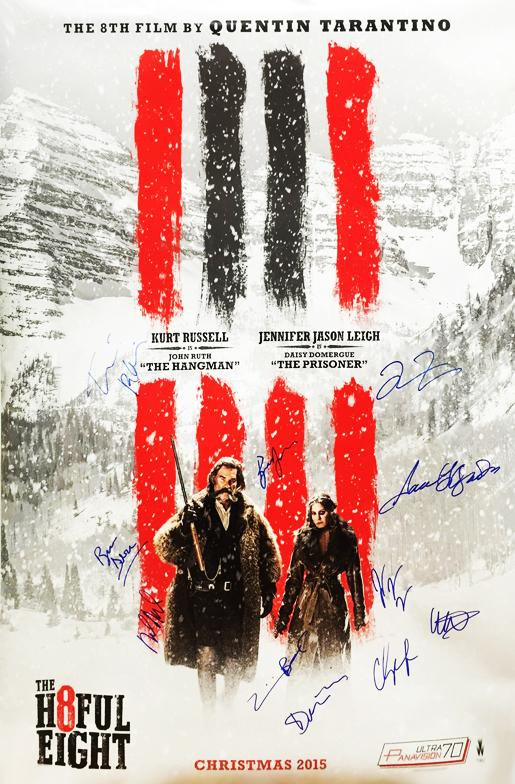 """The Hateful Eight"" - Cast Signed Movie Poster (Unframed)"