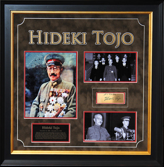 General Hideki Tojo Original Signature