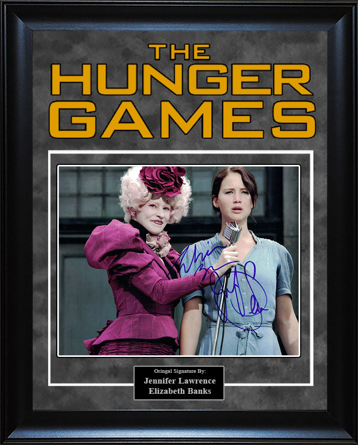 """Hunger Games"" - Jennifer Lawrence and Elizabeth Banks Signed 8x10 Photo"