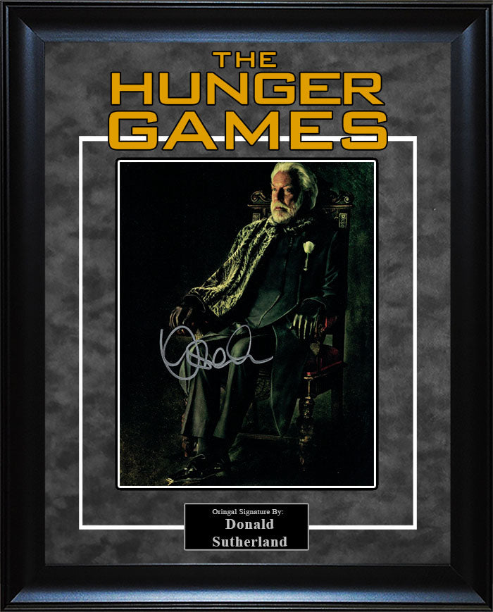 """Hunger Games"" - Donald Sutherland Signed 8x10 Photo"