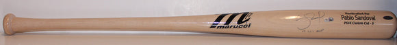 San Francisco Giants - Pablo Sandoval game used and signed baseball bat