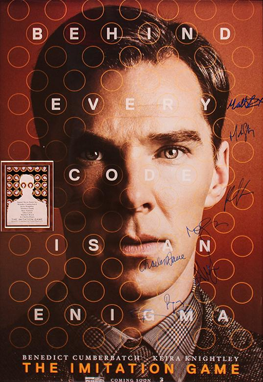 """Imitation Game"" - Cast signed Movie Poster (Unframed)"