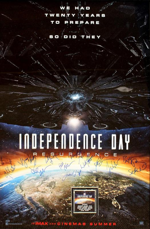 """Independence Day: Resurgence"" - Cast signed Movie Poster (Unframed)"