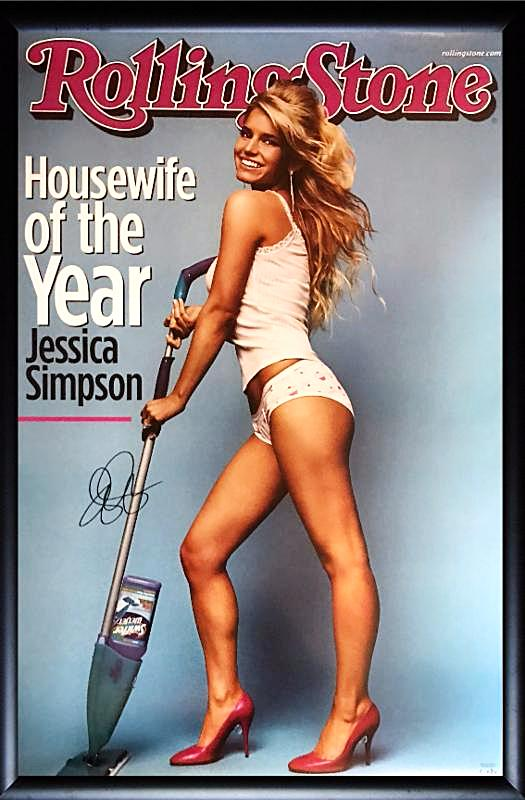 Jessica Simpson - Signed poster