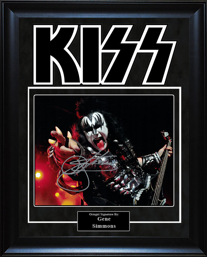 """KISS"" - Gene Simmons Signed 8x10 Photo"