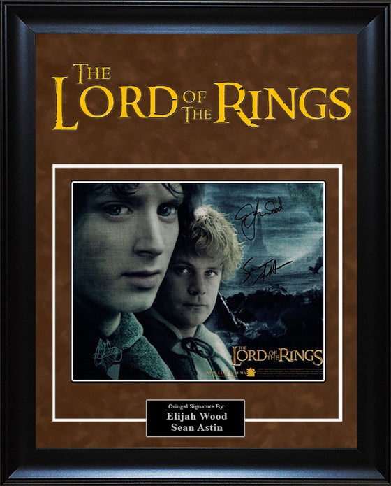 """Lord Of The Rings"" - Elija Wood and Sean Astin Signed 8x10 Photo"