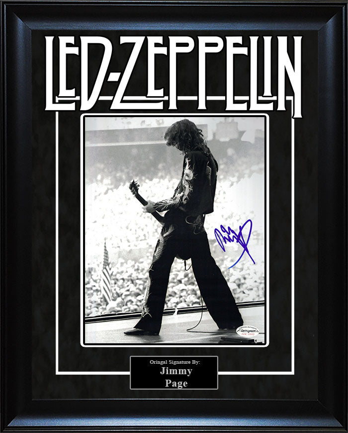 """Led Zeppelin"" - Jimmy Page Signed 8x10 Photo"