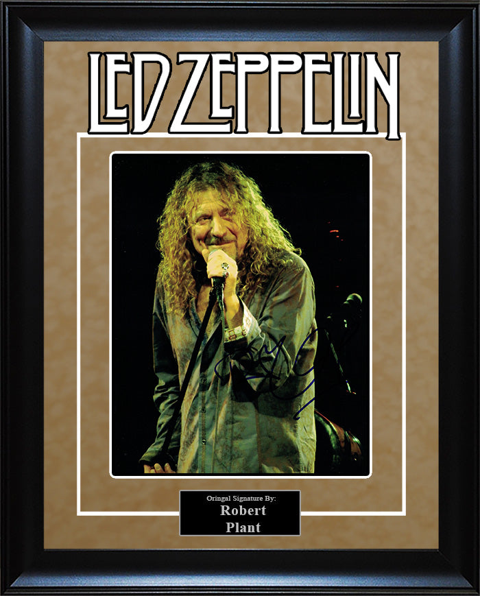 """Led Zeppelin"" - Robert Plant Signed 8x10 Photo"
