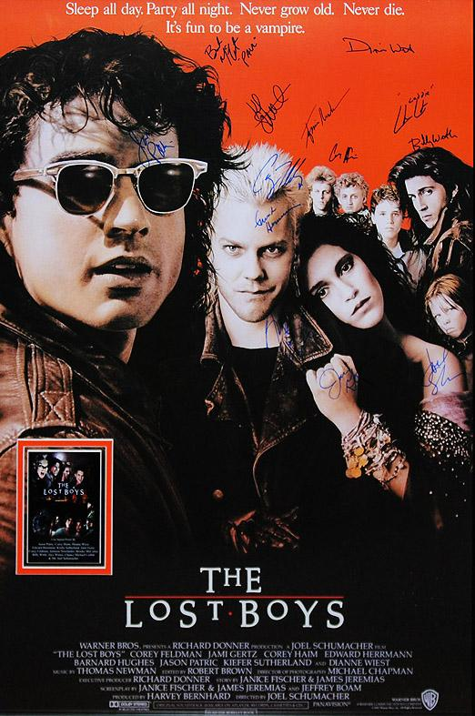 """The Lost Boys"" - Cast signed Movie Poster (Unframed)"