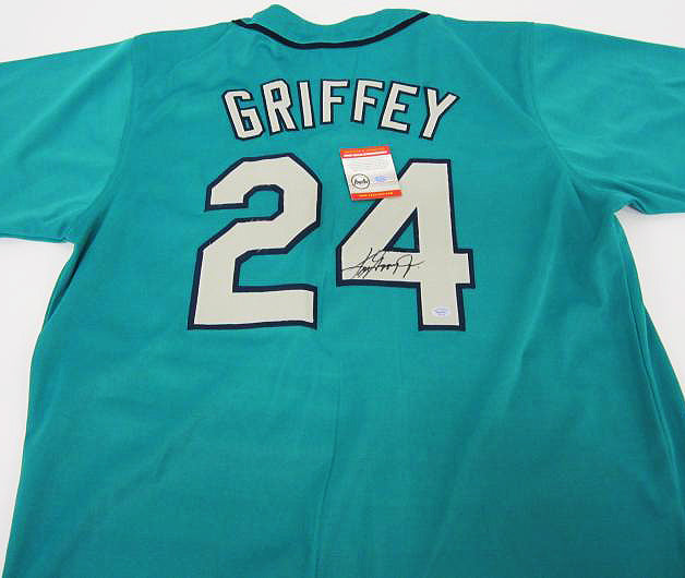 """Seattle Mariners"" RARE Ken Griffey Jr. signed jersey (unframed)"