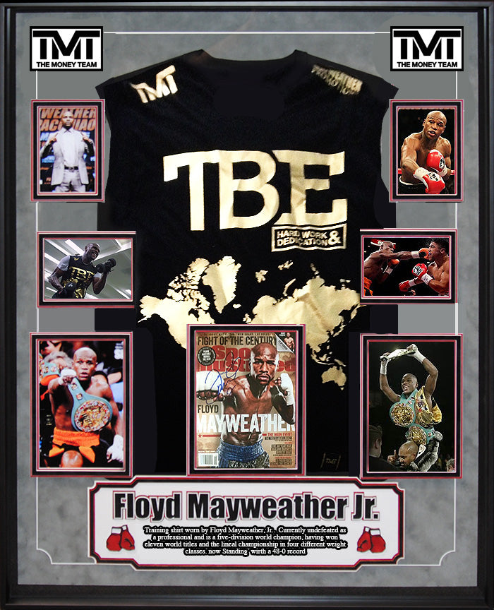 "Floyd ""Money"" Mayweather Personally Worn Training Shirt"
