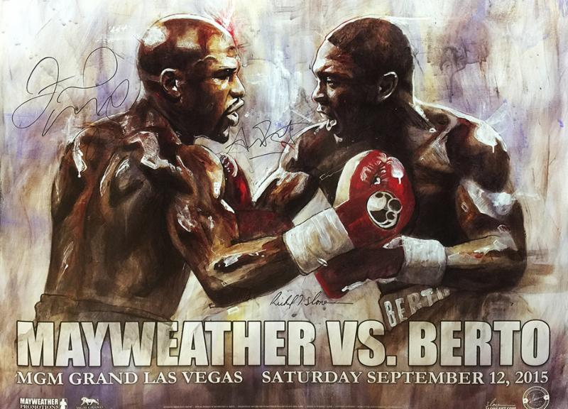 """Mayweather vs. Berto"" - Signed Fight Poster (Unframed)"