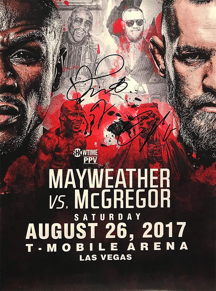 """Mayweather vs McGregor"" - Signed Fight Poster (Unframed)"