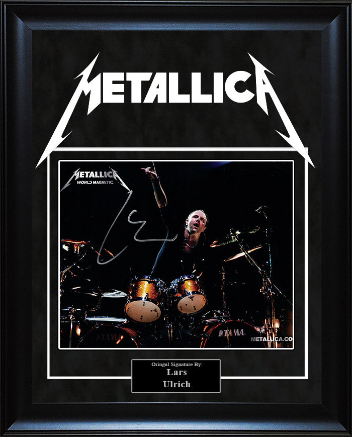 Metallica - Lars Ulrich Signed 8x10 Photo