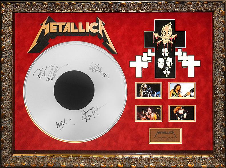 """Metallica"" Original Band Signed Drumhead"