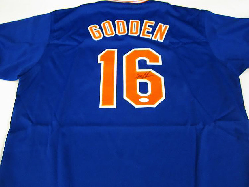"""New York Mets"" Dwight Gooden signed jersey (unframed)"