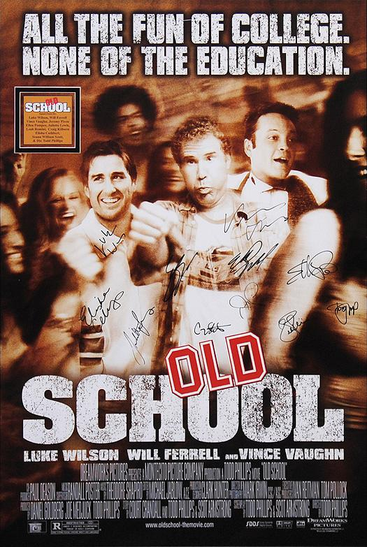 """Old School"" - Cast signed Movie Poster (Unframed)"