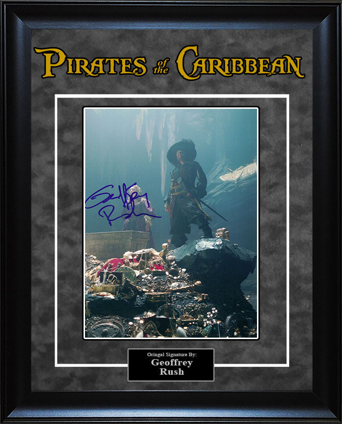 """Pirates of The Caribbean"" - Geoffrey Rush Signed 8x10 Photo"