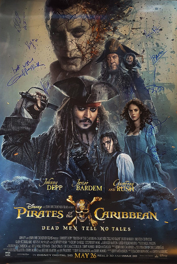 """Pirates of the Caribbean: Dead Men Tell No Tales"" cast poster"