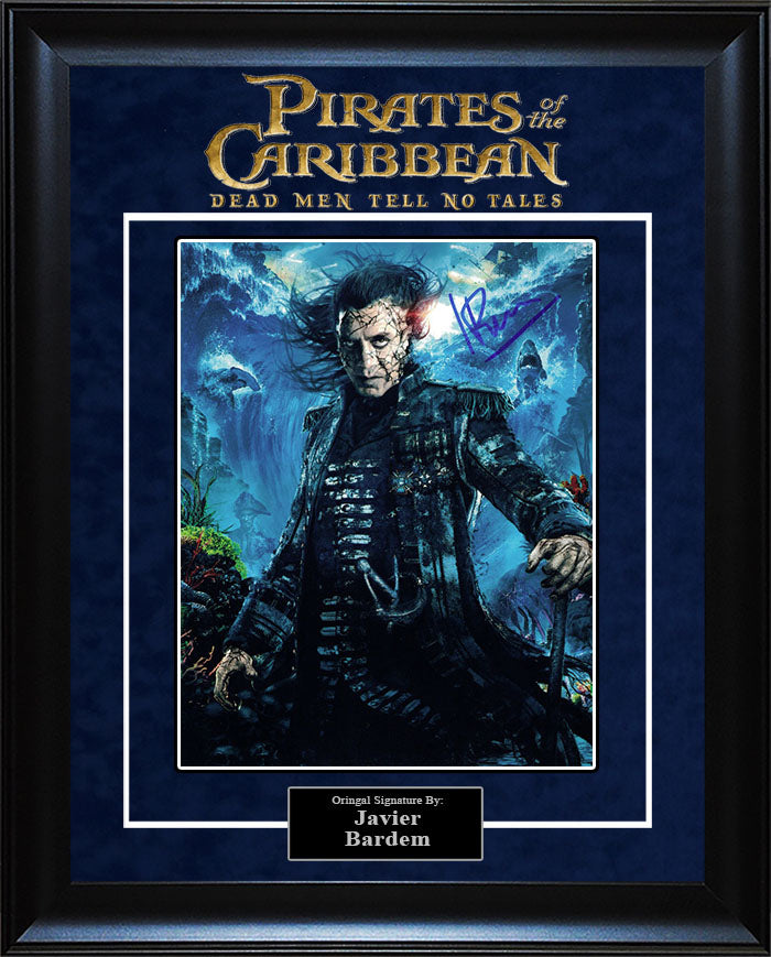 """Pirates of The Caribbean: Dead Men Tell No Tales"" - Javier Bardem Signed 8x10 Photo"