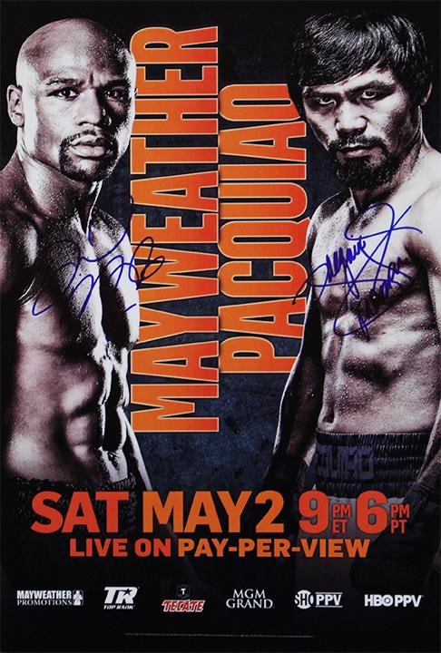 """Mayweather vs Pacquiao"" - Signed Fight Poster (Unframed)"