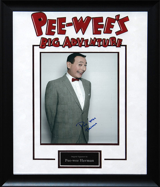 """Pee-Wee's Big Adventure"" - Pee-Wee Herman Signed 8x10 Photo"