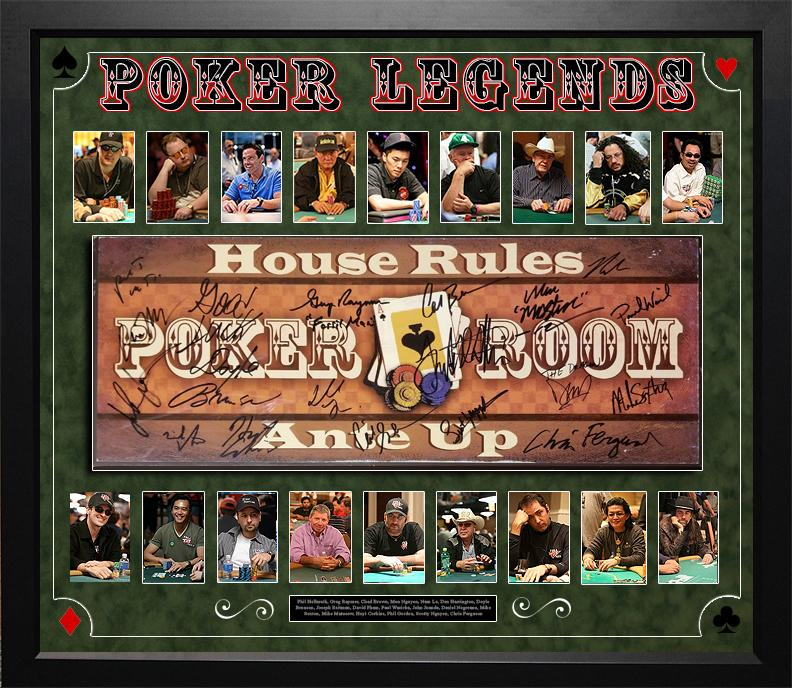 """Poker Legends"" Signed  Poker Room Sign"
