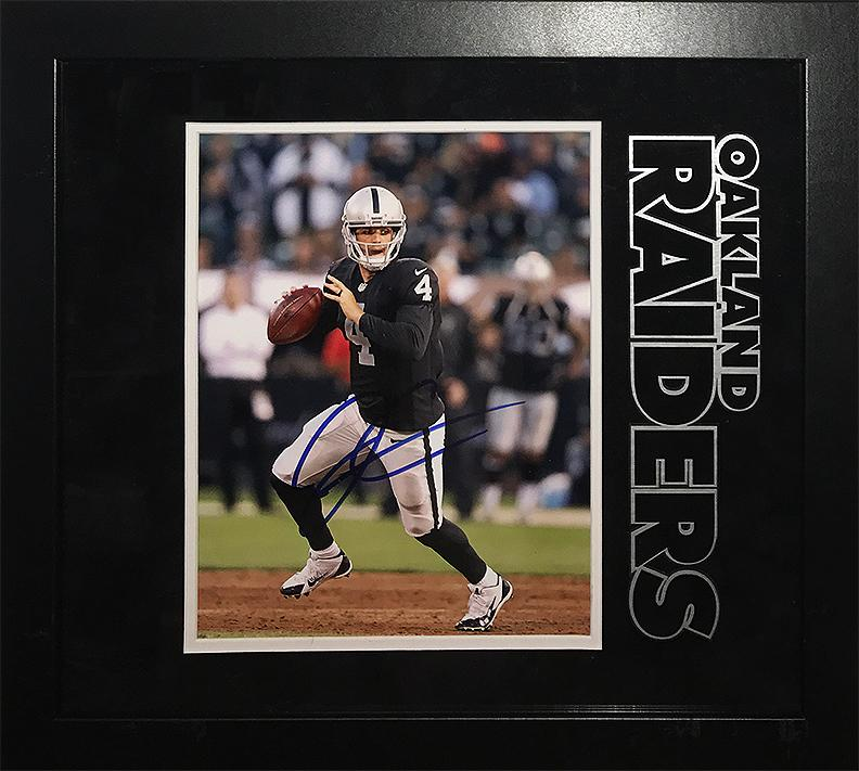 """Oakland Raiders"" - Derek Carr signed 8x10"