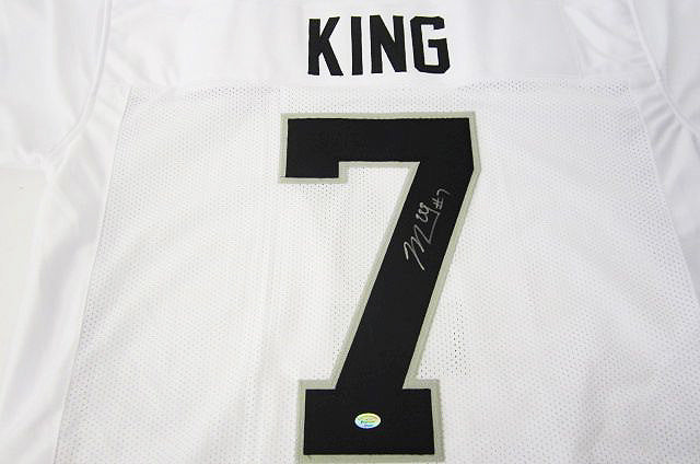 """Oakland Raiders"" Marquette King signed jersey (unframed)"
