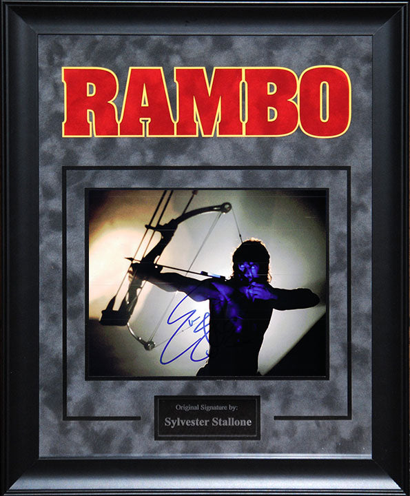 """Rambo"" - Sylvester Stallone Signed 8x10 Photo"