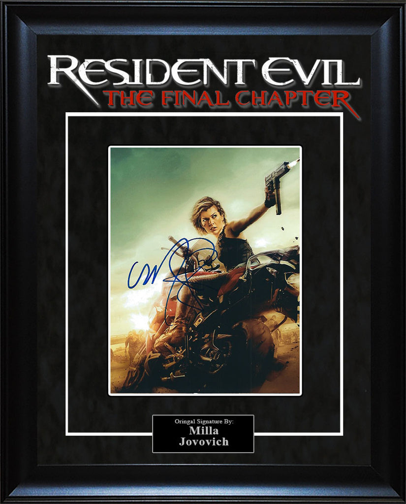 """Resident Evil: The Final Chapter"" - Milla Jovovich Signed 8x10 Photo"