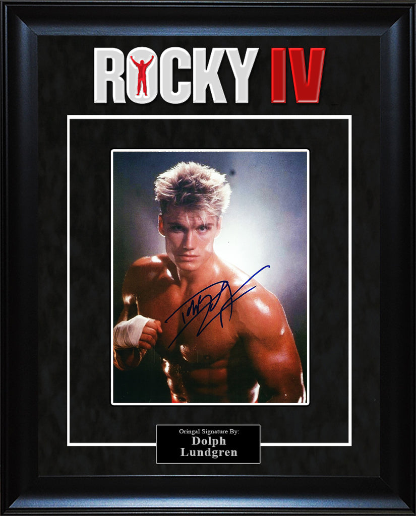 """Rocky"" - Dolph Lundgren Signed 8x10 Photo"