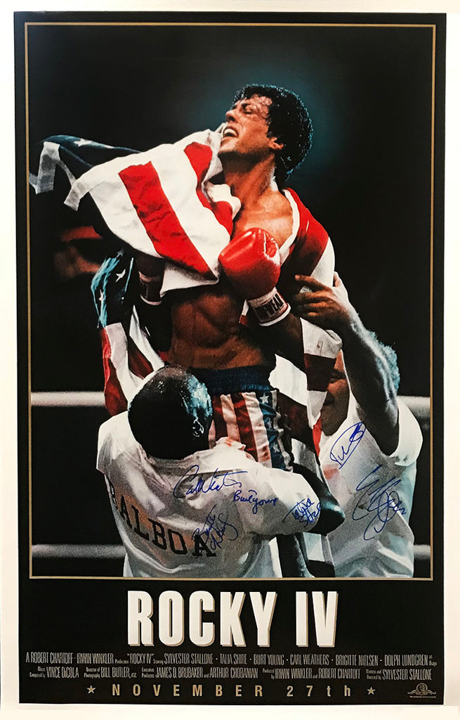 """Rocky IV"" - Cast Signed Movie Poster (Unframed)"