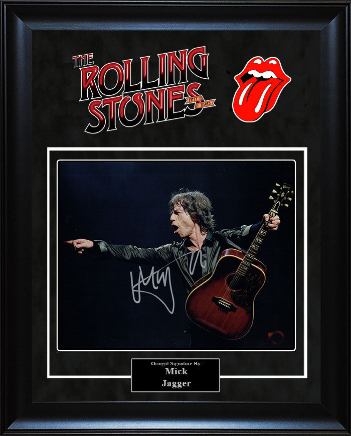 """Rolling Stones"" - Mick Jagger Signed 8x10 Photo"