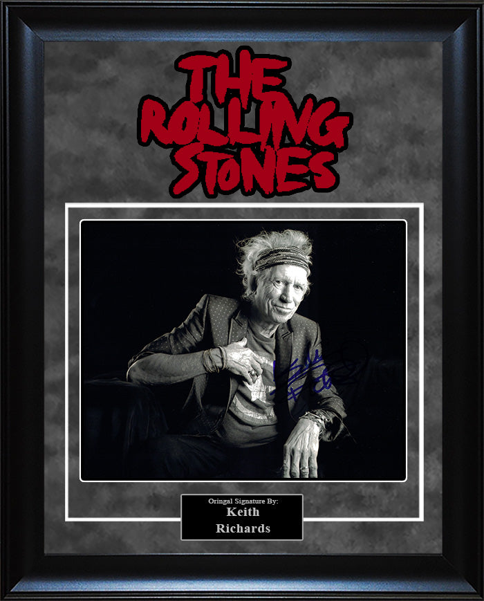 """Rolling Stones"" - Keith Richards Signed 8x10 Photo"