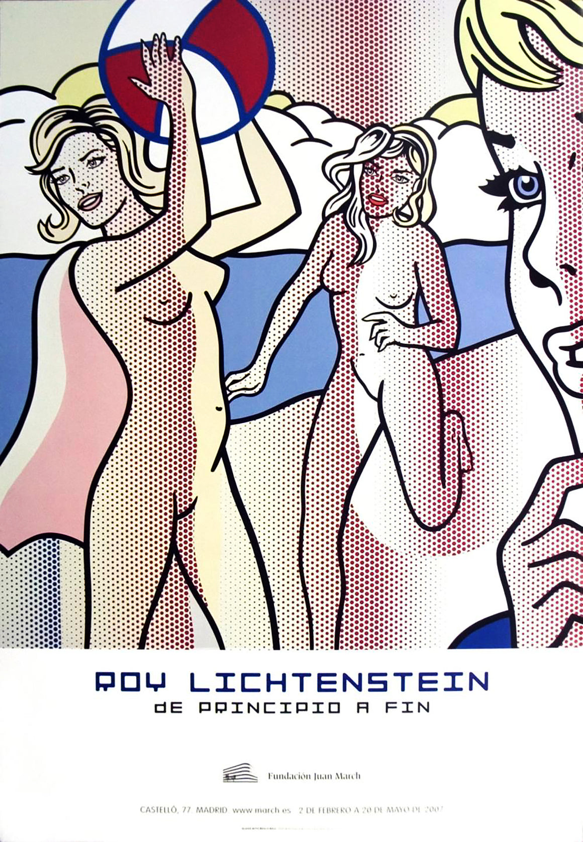 Roy Lichtenstein - 'Nudes with Beach Ball' (2007)