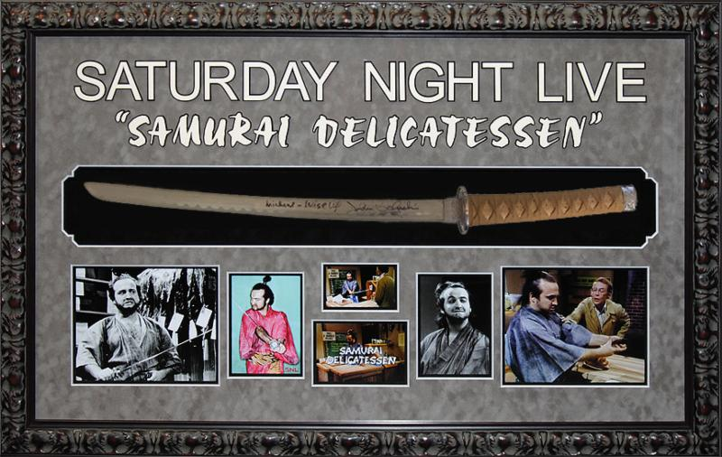 """Saturday Night Live"" John Belushi as 'Samurai Futaba' signed  Samurai Sword"