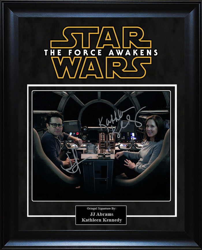 """Star Wars: Force Awakens"" - JJ Abrams and Kathleen Kennedy Signed 8x10 Photo"
